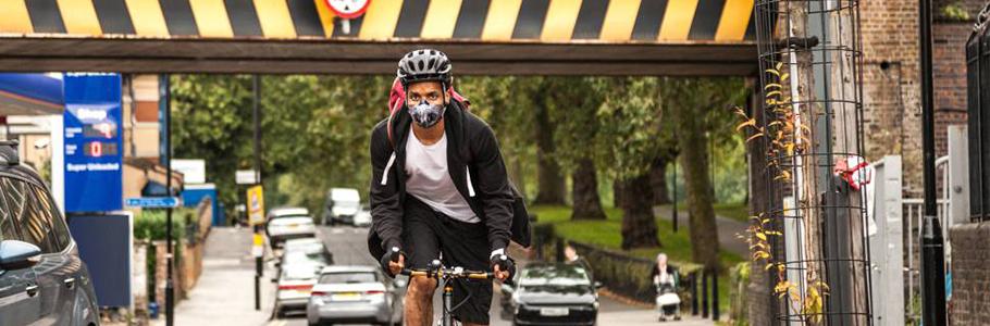 Mascarilla antipolución, contaminación, moto, bicicleta, running