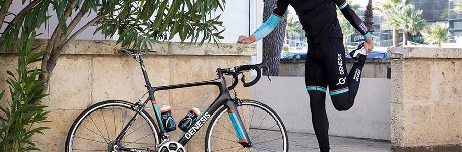Pack de alimentación o suplementación deportiva para ciclismo.